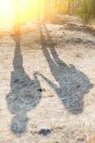 人的阴影小山的 库存图片