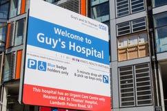 人的医院标志,伦敦 库存图片