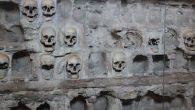 人的头骨墙壁 影视素材