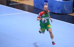 人的EHF杯迪纳莫队布加勒斯特- SC马格德堡 库存图片