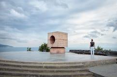 人看纪念碑给革命的水手 免版税库存图片