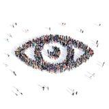 人眼睛医疗3d 库存照片