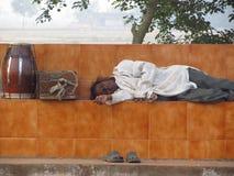 人睡觉 图库摄影