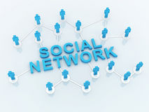人社交网络 向量例证