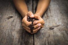 人祈祷 免版税库存图片
