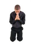 人祈祷 库存图片