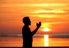 人祈祷 免版税图库摄影