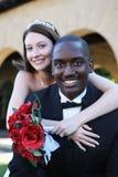 人种间人婚礼妇女 库存图片