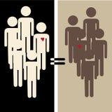 人种间平等 库存照片