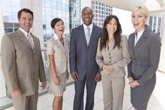 人种间男人&妇女企业小组 免版税图库摄影
