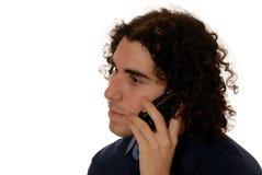 人移动电话年轻人 免版税库存图片