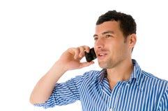 人移动电话年轻人 库存照片
