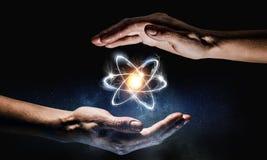 人类和科学 免版税库存图片