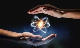 人类和科学 免版税库存照片