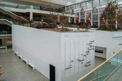 人类演变博物馆的内部一个自然历史博物馆在布尔戈斯,西班牙 库存照片