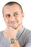 人纵向微笑的年轻人 图库摄影