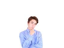 人纵向认为的年轻人 青少年的男孩 免版税库存图片