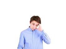 人纵向认为的年轻人 青少年的男孩 库存图片
