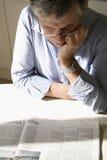 人纸读取 免版税库存图片
