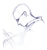 人绘画草图 库存图片