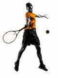 人网球员剪影 库存图片
