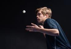 年轻人网球员 库存图片