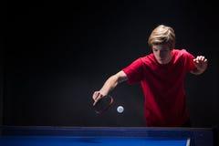 年轻人网球员 免版税图库摄影