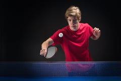 年轻人网球员 免版税库存图片