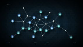 人网络映射蓝色 向量例证