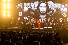 人群和一般大气在维克托Drobysh第50个年生日音乐会期间在巴克来中心 免版税图库摄影