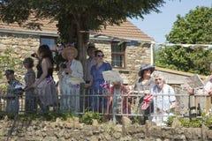 人群和英国国旗 免版税库存图片