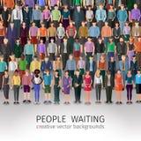 人群巨大的人员 向量例证