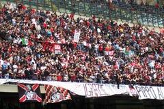 人群扇动米兰体育场 免版税库存图片