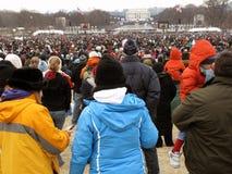 人群林肯纪念最近 免版税库存照片