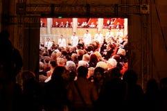 人群活动注意 免版税库存照片