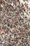 人群的顶视图 免版税库存图片