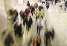 人群移动 免版税库存图片