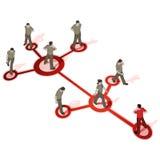 人群网络连接来源 免版税图库摄影