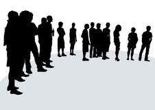 人群阶段 免版税库存图片
