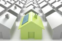 人群eco房子现代引人注意 库存图片