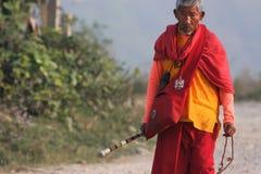 人老尼泊尔 免版税库存图片