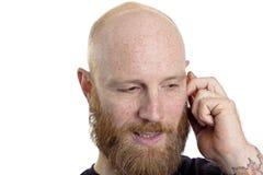 人联系在电话 免版税库存图片