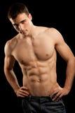 人肌肉性感 免版税库存照片