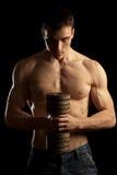 人肌肉性感 库存图片