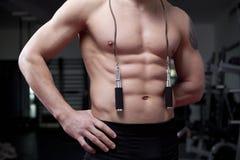 人肌肉绳索 库存图片