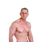 人肌肉赤裸上身 免版税图库摄影