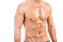 人肌肉年轻人 图库摄影