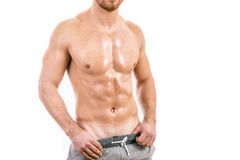 人肌肉年轻人 免版税图库摄影