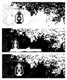 人脉的传染媒介盖子,与夏天的图象在天的不同的时刻的 库存例证
