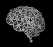 人脑概念 库存图片